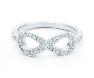 infinity, ring, and diamonds image