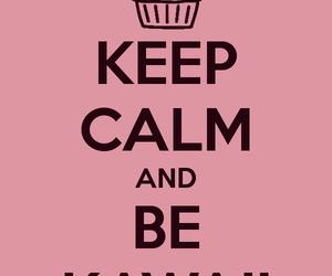 kawaii, keep calm, and pink image