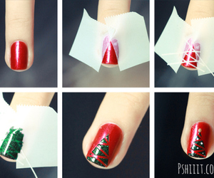 christmas, holiday, and red and green image
