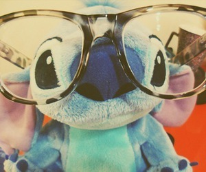 stitch, glasses, and disney image