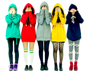 girl, colors, and clothes image