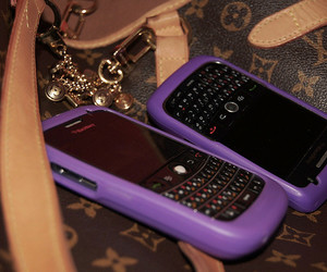blackberry, purple, and bag image