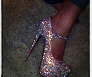 glitter, heels, and pretty image