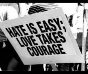 hate, text, and love image