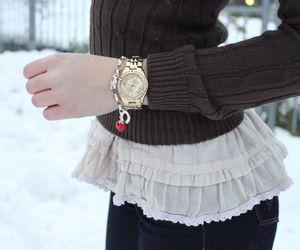 blonde, blouse, and bracelet image