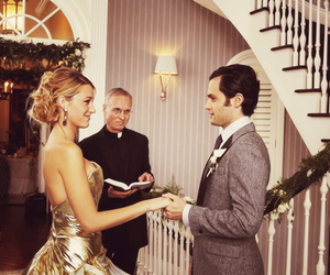 gossip girl, serena, and wedding image