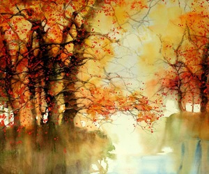 art, autumn, and watercolor image