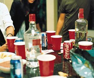 drink, vodka, and coke image