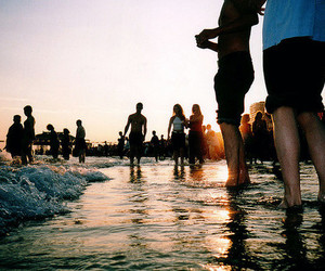 beach, rave, and water image