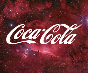 galaxy, coca cola, and red image