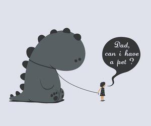 dinosaur and pet image