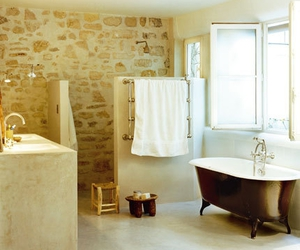 bathroom, dreamy places, and yellow image