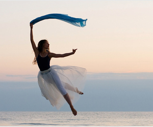 ballet, beach, and fly image