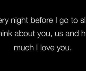 love, quotes, and night image