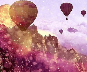 balloons, pretty, and sky image