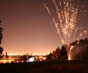 cool, winter, and fireworks image