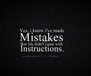mistakes, text, and instructions image
