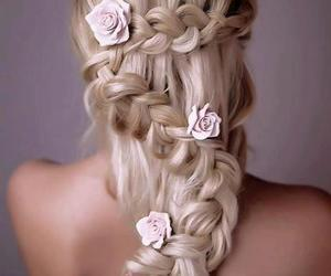beauty, hair fashion, and romantic image