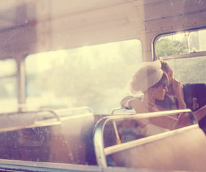bus, kiss, and love image
