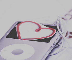 apple, heart, and mp4 image