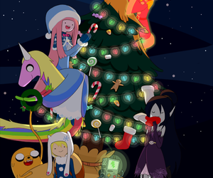 christmas, adventure time, and finn image