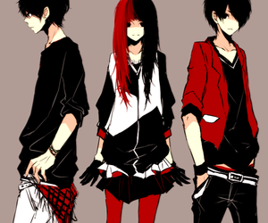 anime, red, and black image