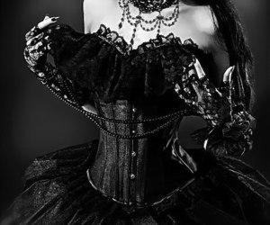 black, dress, and goth image