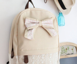 backpack, cute, and bow image
