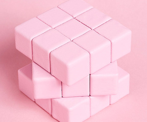 pink, rubix cube, and pink aesthetic image