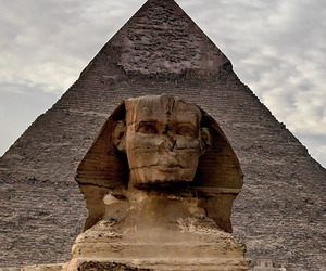 egypt, pyramid, and sphinx image