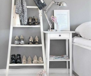 shoes, bedroom, and interior design image