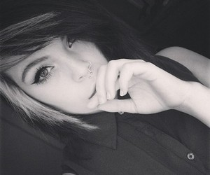 alternative, black and white, and girl image