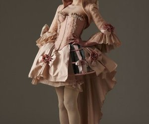 dress, rococo, and corset image