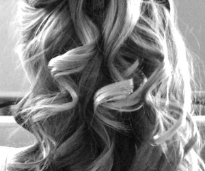 bow, curls, and hair image