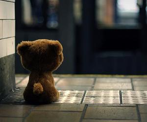 bear, alone, and teddy bear image