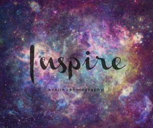 colorful, galaxy, and inspire image