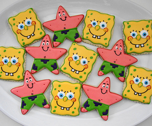 spongebob, patrick, and Cookies image