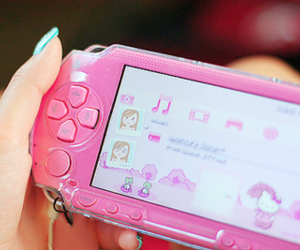 pink, psp, and cute image