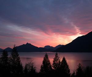 lake, nature, and sunset image