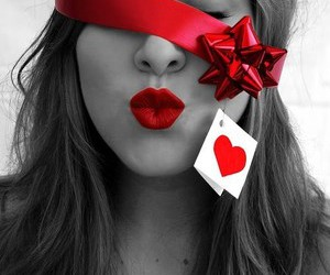 heart, red, and gift image