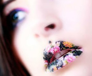lipart and floral lips image
