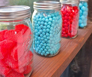 aqua, red, and candy image