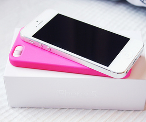 iphone, pink, and white image