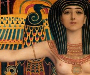 art, egypt, and klimt image