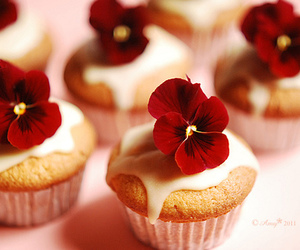 flowers, cupcake, and cute image