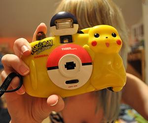 pikachu, cute, and camera image