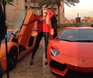 girl, car, and blond image