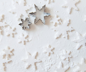baking, Cookies, and snowflakes image