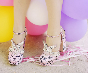shoes, balloons, and pink image