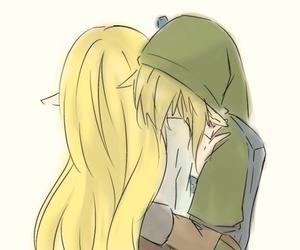 hug, link, and zelda image
